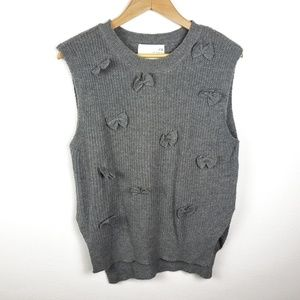 JOA Los Angeles | Gray Sleeveless Bow Sweater